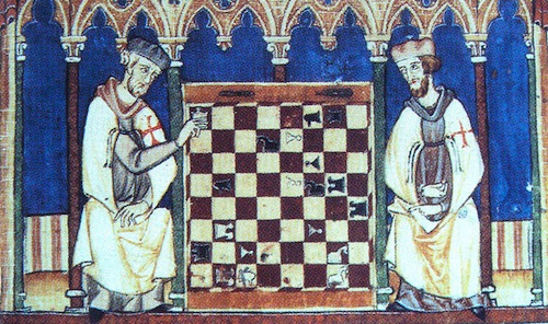 Knights Templar Playing Chess 1283
