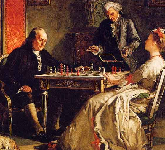 Benjamin Franklin Plays Chess