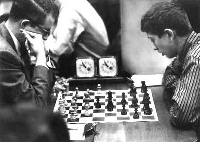 Robert Byrne (Left) vs Bobby Fischer (Right)