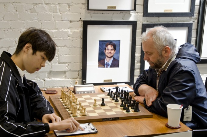 Ivanov was the 2012 U.S. Senior Open Winner. Photo: 2011 U.S. Chess Champs, Robson vs Ivanov, Courtesy Saint Louis Chess Club