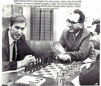 bobby-fischer-et-mark-taimanov par Steve Stepak