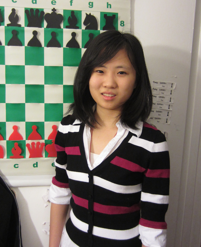 Yang Dai, 2012 Scholar-Chessplayer Award recipient