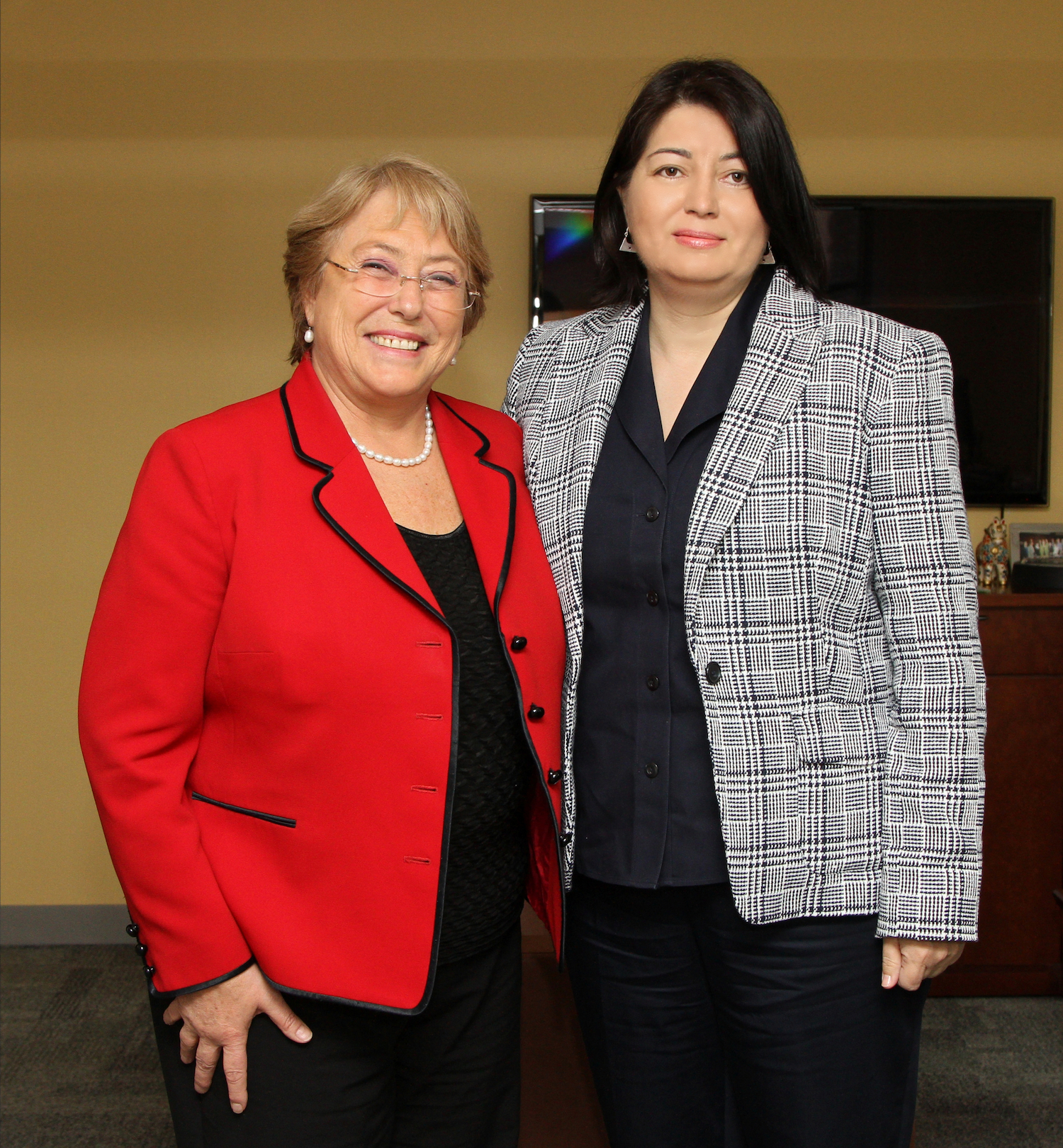 Executive Director UN Women, Dr. Michelle Bachelet and FIDE Vice President, Beatriz Marinello