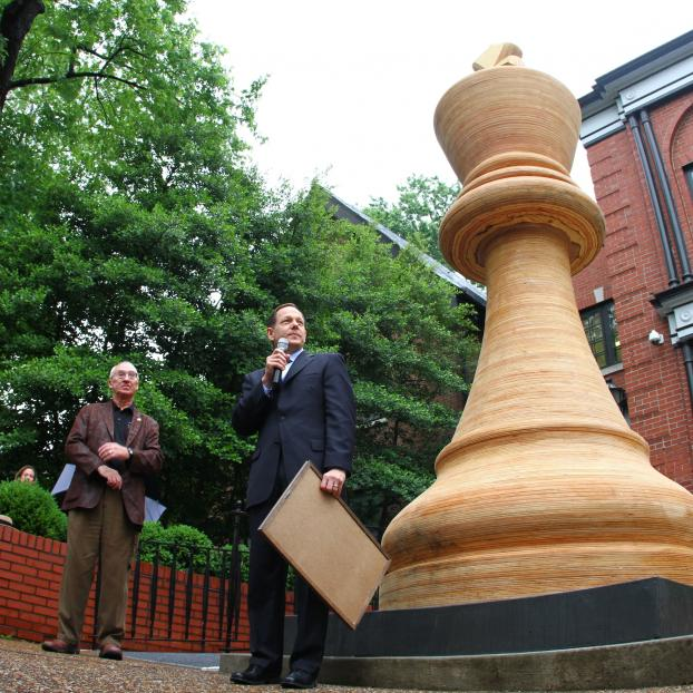 Photo Courtesy Saint Louis Chess Club: World' s Largest Chess Piece