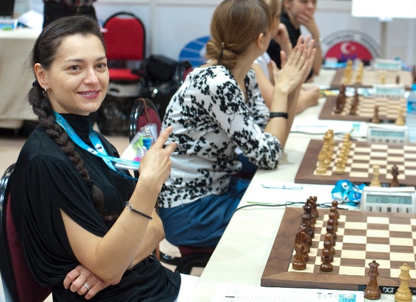 Alexandra Kosteniuk 2012 Chess Olympiad Photo by David Llada ©