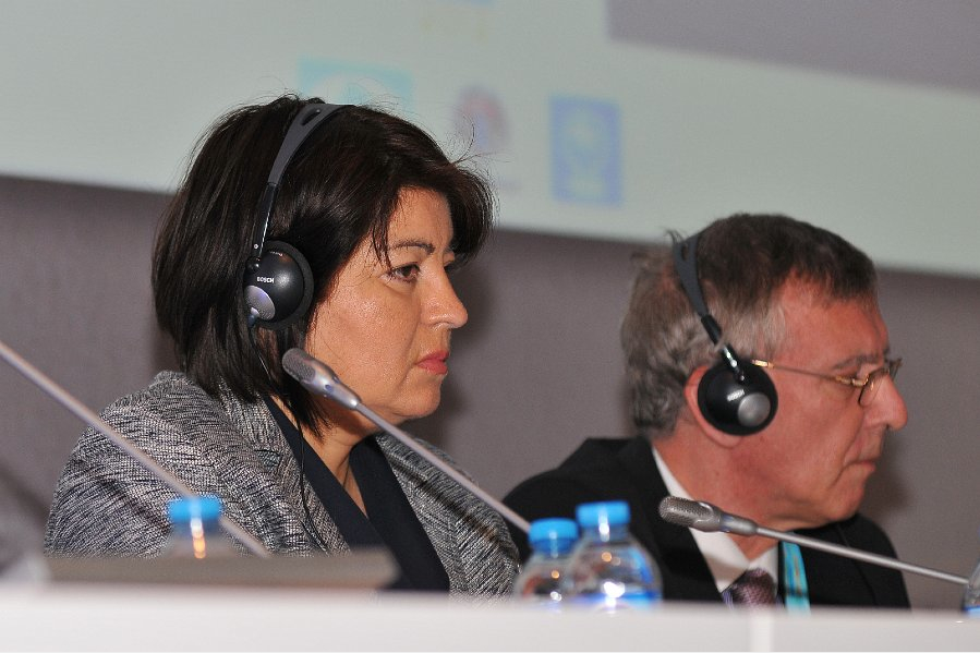 Beatriz Marinello FIDE Vice President and U.S. Chess Trust Trustee at the 2012 FIDE Gerneral Assembly