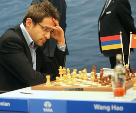 Levon, Aronian Day 10, 2013 Tata Steel Chess Tournament, Photo Courtesy Official Website www.tatasteelchess.com