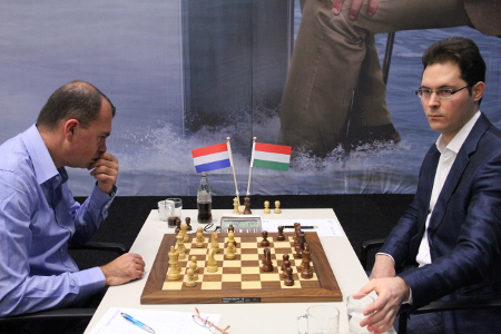 Sokolov vs. Leko, Day 10, 2013 Tata Steel Chess Tournament, Photo Courtesy Official Website www.tatasteelchess.com