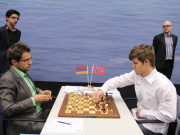 Aronian vs. Carlsen, 2013 Tata Steel Chess Tournament, Photo Courtesy Official Website www.tatasteelchess.com