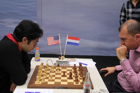 Round 2 Nakamura vs. Sokolov, 2013 Tata Steel Chess Tournament, Photo Courtesy Official Website www.tatasteelchess.com