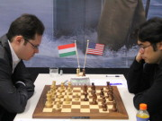 Leko vs. Nakamura, Day 3, 2013 Tata Steel Chess Tournament, Photo Courtesy Official Website www.tatasteelchess.com