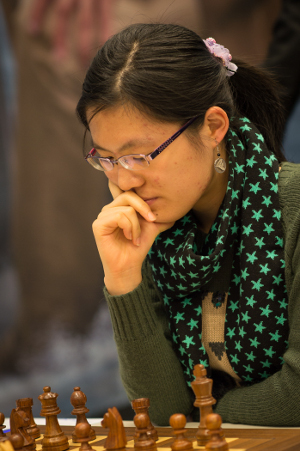 Hou Yifan, Day 4, 2013 Tata Steel Chess Tournament, Photo Courtesy Official Website www.tatasteelchess.com