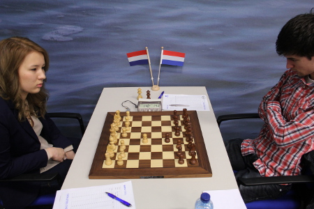 Schut vs. Swinkels, Day 5, 2013 Tata Steel Chess Tournament, Photo Courtesy Official Website www.tatasteelchess.com