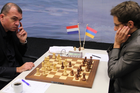 Sokolov vs. Aronian, Day 5, 2013 Tata Steel Chess Tournament, Photo Courtesy Official Website www.tatasteelchess.com