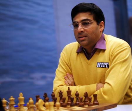 Vishy Anand, Day 6, 2013 Tata Steel Chess Tournament, Photo Courtesy Official Website www.tatasteelchess.com