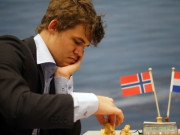 Magnus Carlsen, Day 6, 2013 Tata Steel Chess Tournament, Photo Courtesy Official Website www.tatasteelchess.com