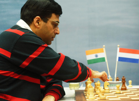 Vishy Anand, Day 7, 2013 Tata Steel Chess Tournament, Photo Courtesy Official Website www.tatasteelchess.com