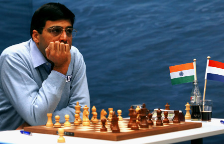 Vishy Anand, Day 8, 2013 Tata Steel Chess Tournament, Photo Courtesy Official Website www.tatasteelchess.com