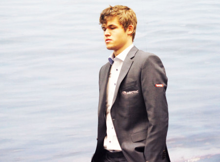 Magnus Carlsen, Day 8, 2013 Tata Steel Chess Tournament, Photo Courtesy Official Website www.tatasteelchess.com