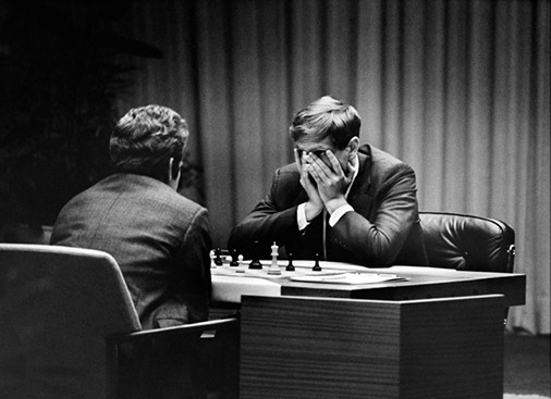 Fischer-vs-Spassky, Game 2 , Iceland 1972, Photograph by Harry Benson CBE, World Chess Hall of Fame Exhibit