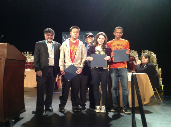 2013 Scholar Chess Player Award Winners at Supernationals with Harold Winston, Chairman US Chess Trust and Sunil Weeramantry, US Chess Trust Scholastic VP
