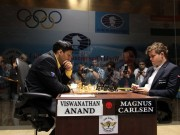 Anand vs Carlsen, Photo Credit FIDE, World Chess Federation