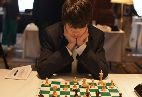 2014 Final Four College Chess, Ray Robson; Photo Copyright Dora Leticia