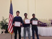 2014 Chessplayer-Scholar Award Winners! Chess players shown are three of the five winners: Aleksandr, Varun and Jeevan.