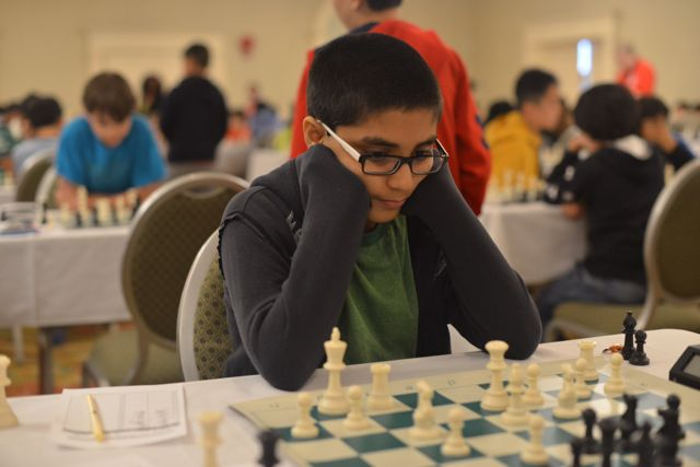 Advait Patel at the 2014 North American Youth Chess Championship; Photo by Dora Leticia Copyright Protected