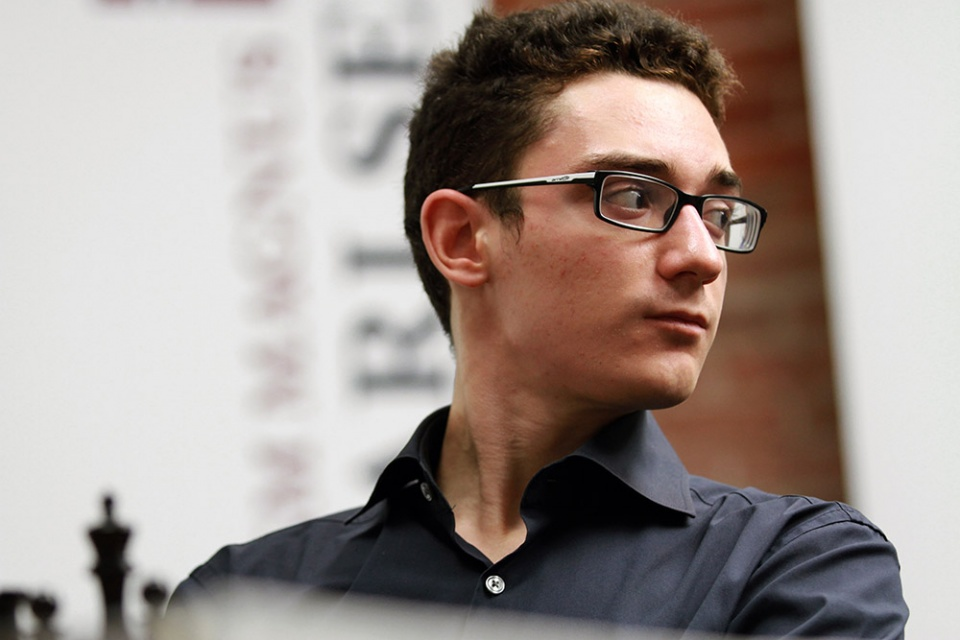 Fabiano Caruana; Sinquefield Cup Round 7; Photo Courtesy Saint Louis Chess Club Copyright