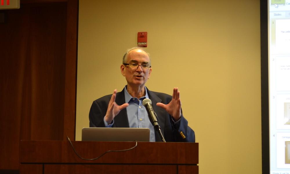 Jim Eade, US Chess Trust President receives award.
